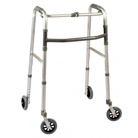 Deambulatore fisso pieghevole quattro ruote art.ParaDE14