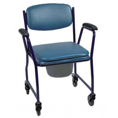 Sedia comoda in acciaio con ruote piroettanti art.ParaSE5
